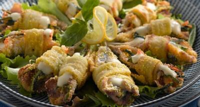 Anchovies stuffed with Galbani Mozzarella and Courgettes - Galbani