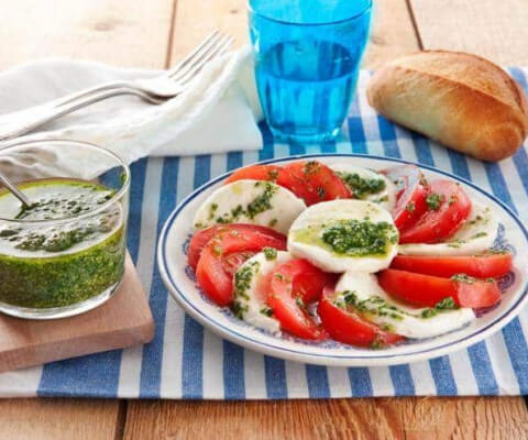 Galbani Mozzarella Caprese Salad with Pesto - Galbani