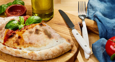Galbani Mozzarella and Aubergine Calzone Pizza - Galbani