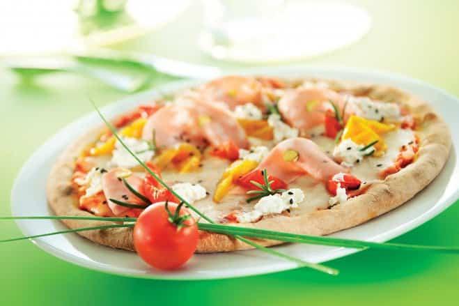 Galbani Mozzarella and Pistachio Mortadella Pizza - Galbani