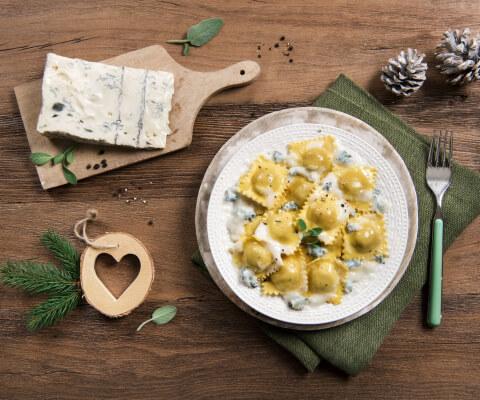 Pumpkin Ravioli with Galbani Dolcelatte Sauce - Galbani