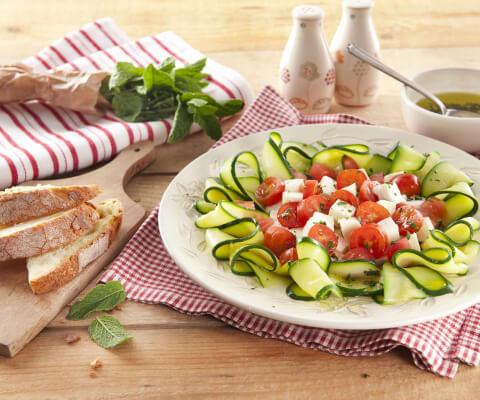 Galbani Mozzarella Caprese Salad with Courgettes - Galbani