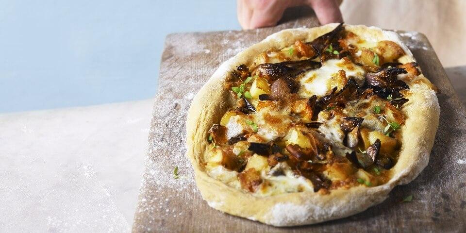 Galbani Mozzarella Pizza with Roasted Vegetables - Galbani