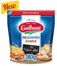 Galbani Grated Mozzarella Cheese 180g - Galbani